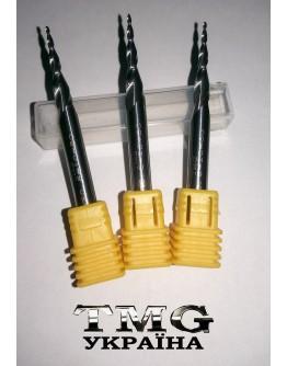 Two flutes cone ballnose cutter 6х25х60х R 0.5